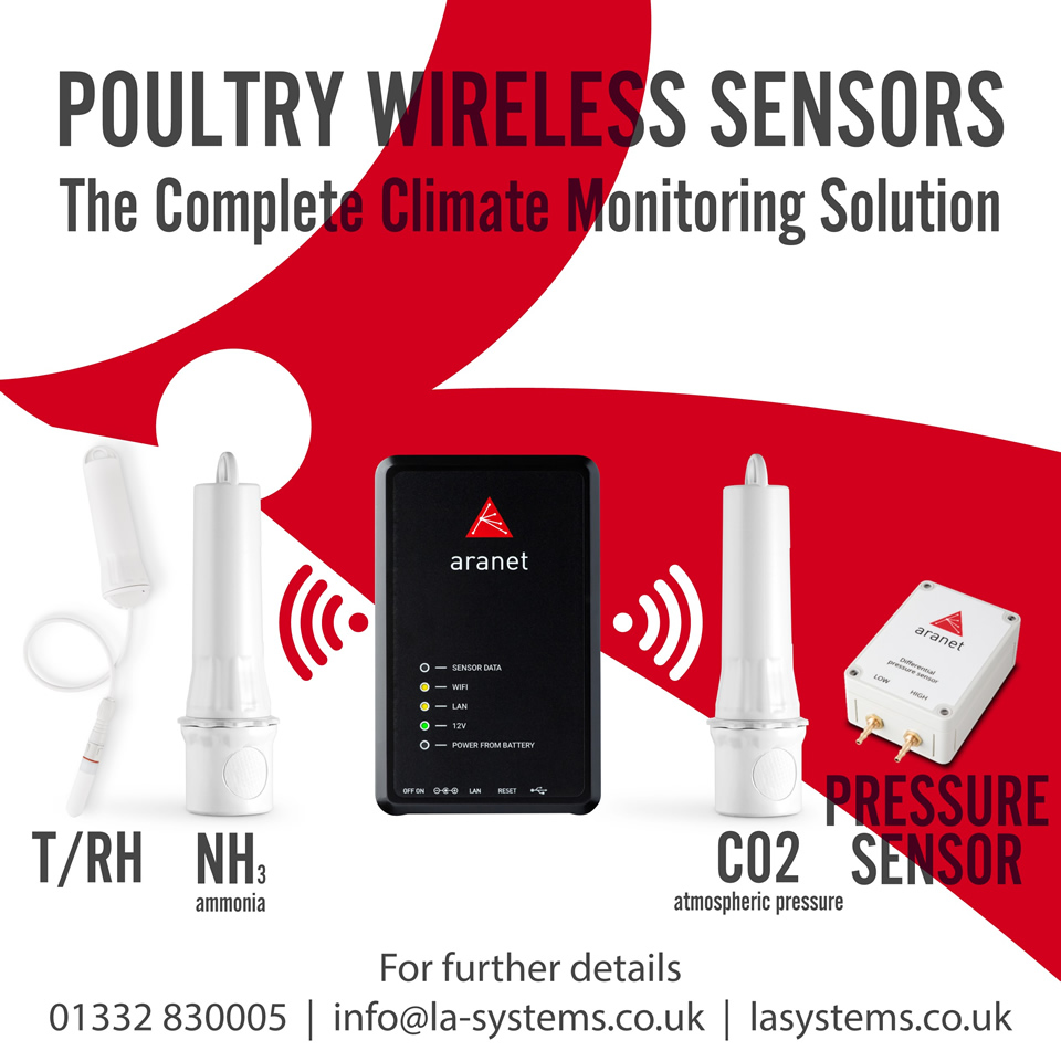 Poultry Wireless Sensors. The complete climate monitoring solution