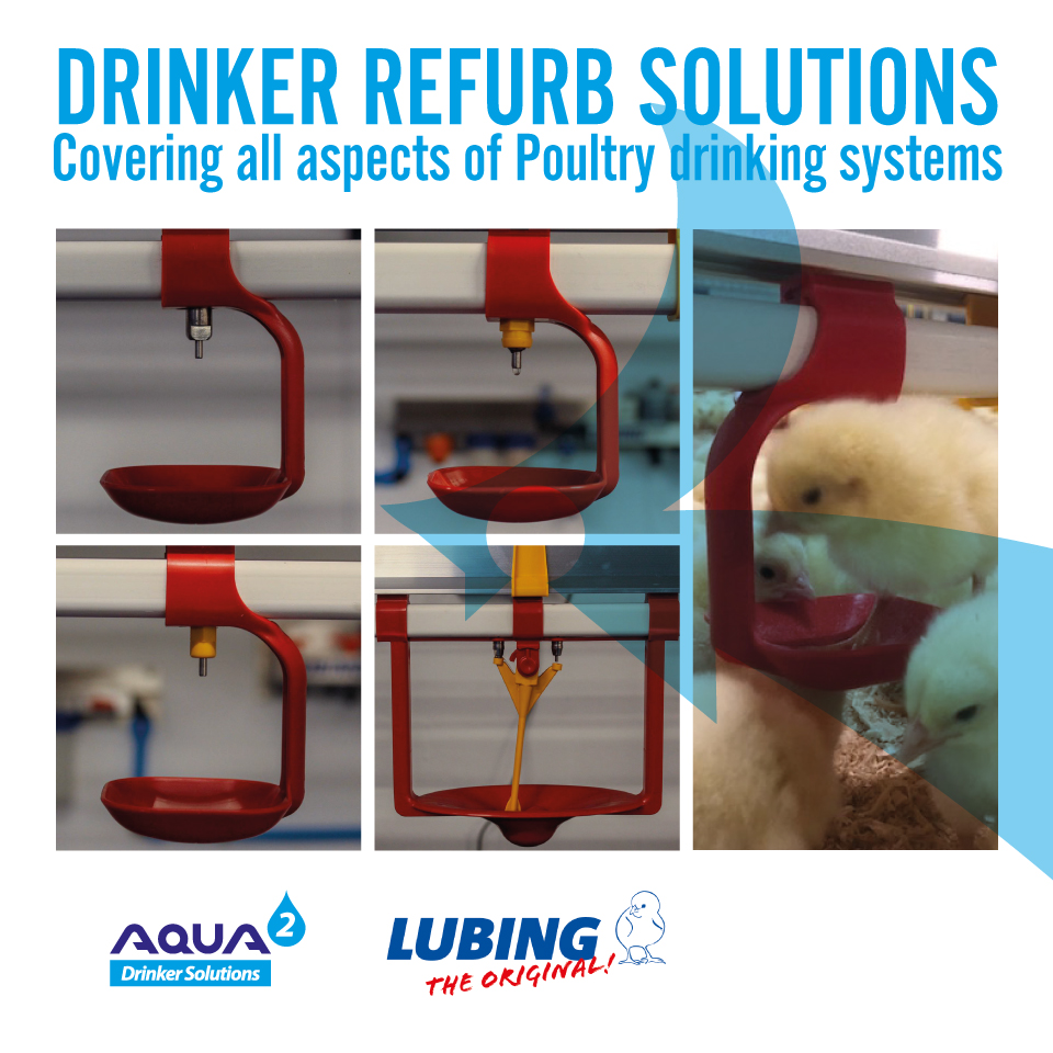 Drinker refurb solutions. Covering all aspects of poultry drinking systems