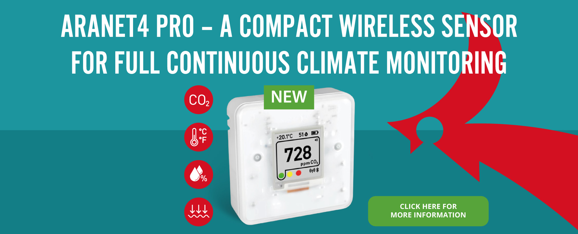 Aranet 4 Pro - A compact wireless sensor for full continuous climate monitoring