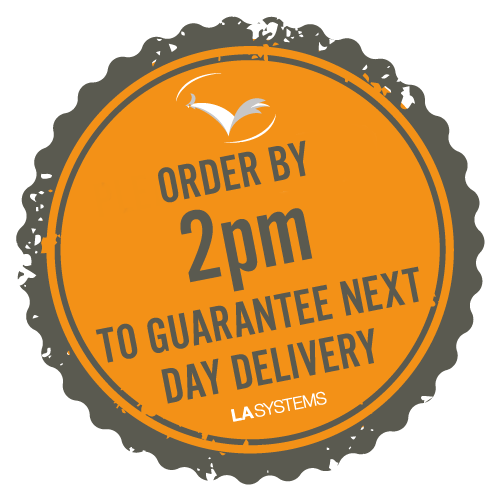 Order by 2pm to guarantee next day delivery